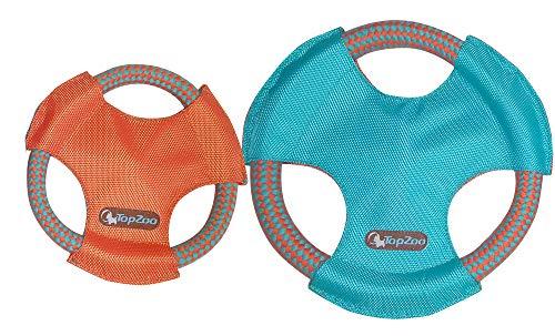 TOPZOO Juguete Sporty Frisbee con Lanzamiento para Perro S