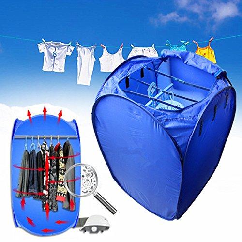 INOVEY 800 Watt Tragbare Elektrische Luft Wäschetrockner Falten Schnell Trocknende Maschine Tasche Box