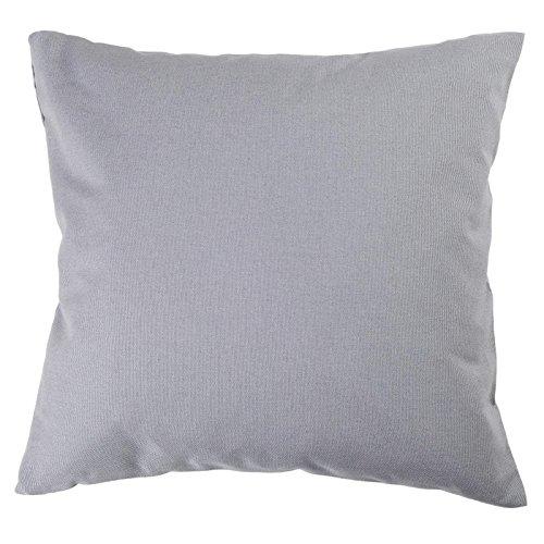 Kissenbezug, Uni, Baumwolle Linon, Reißverschluss, einfarbig, Kopfkissen, Dekokissen | 40x40 cm - Grau