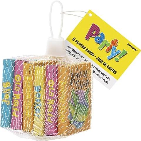 Unique Party - 74028 - Paquet de 6 Cartes à Jouer pour Pochettes - Cadeau