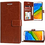 DMG Premium PU Leather ID Flip Cover Stand Case For Xiaomi Redmi 5 (ID Brown)