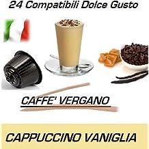 """Cápsulas compatibles con Nescafè Dolce Gusto®, Cápsulas de Caffè Vergano Mezcla """"Cappuccino alla Vaniglia - Cappuccino con vainilla"""" (24 Cápsulas)"""