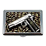 Zigarettenetui/Box, Kanonenkampf, Zigarettenspitze, Gewehr Bilder, Visitenkartenetui Visitenkartenetui Edelstahl