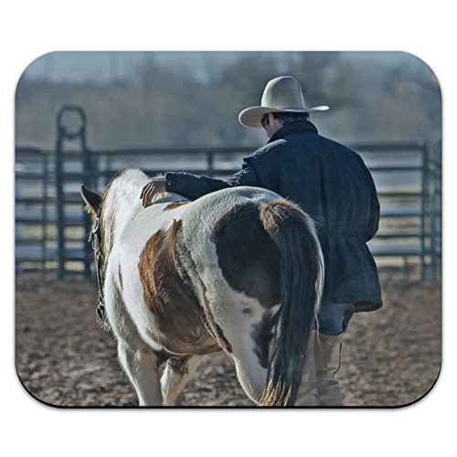 Cowboy e Cavallo, occidentale paese Ranch Pony Tappetino Per Mouse