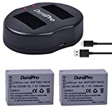 DuraPro 2Pcs 1300mAh NB-10L NB10L NB 10L Akku + Slim USB Dual Ladegerät für Canon G1X G15 G16 SX40HS SX50HS SX60HS SX40 SX50 SX60 HS Kameras