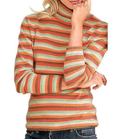 Heine - Best Connections Damen-Pullover Kaschmir-Rollkragenpullover Mehrfarbig Größe