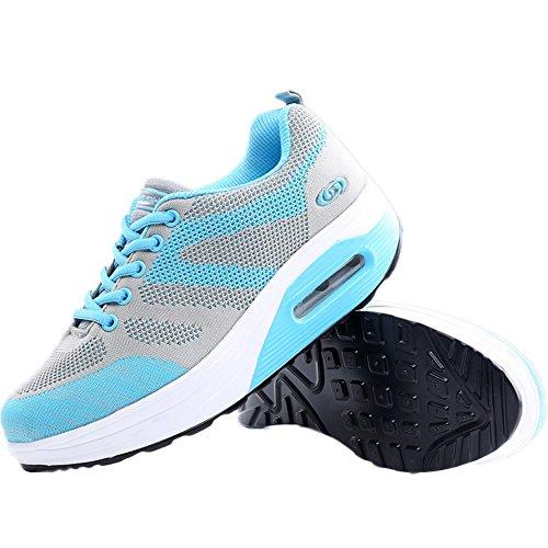 Respirável Sapatos Blau03 Deslizamento Tênis De Em Da Loafers Superfície Cunha Rede Cunhas Plateau Sapatos Verão Sapatilha Malha Calcanhar Mulheres Casuais Da 7w1WSqRvn