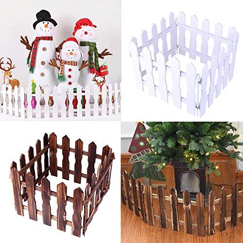 Sencillo Vida DIY Valla de Madera Árbol de Navidad Artificial decoración para...