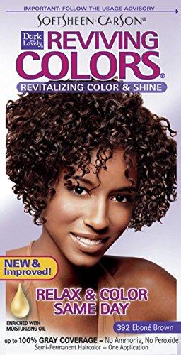 Dark and Lovely Coloration capillaire Reviving - Enrichie en huiles hydratantes - Couleur 392 - Châtain ébène