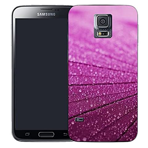 Mobile Case Mate Samsung Galaxy S5 i9600 clip on Silicone Coque couverture case cover Pare-chocs + STYLET - purple lumber pattern (SILICON)