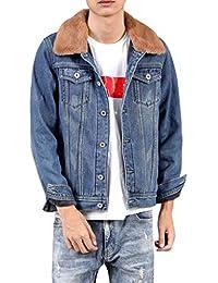 54a70d9b12a9 ODRD Clearance Sale  S-4XL  Herren Damen Pullover Männer Hoodie Splicing  Denim Print Pullover Jacke Parka Pulli…