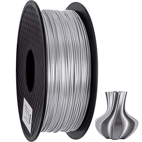 GEEETECH PLA Filament 1.75mm Silk Silber, 3d Drucker printer Filament PLA 1KG Spool