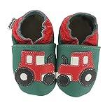 HOBEA-Germany Baby Krabbelschuhe Jungen, Schuhgröße:16/17 (0-6 Monate), Modell Schuhe:Traktor