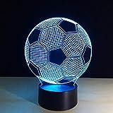 Luce notturna 3D La promozione ha condotto la luce cambiante della luce di notte della lampada di calcio di calcio della luce di notte del partito del regalo della decorazione di Natale per il papà