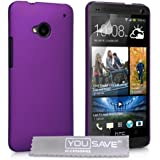 Yousave Accessories Coque pour HTC One Violet