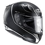 HJC 132675L Casco Moto, Nero/Bianco, L