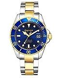 """Gigandet Herren Automatik-Armbanduhr """"Sea Ground"""" Analog Edelstahlarmband Blau Gold G2-001"""