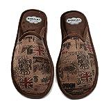 BIORELAX Zapatillas de casa Para Hombre - Londres - 1465 - Marrón (40)
