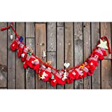 Grafner® XXL Adventskalender Weihnachtskalender aus Filz 24 Säckchen Handschuhe