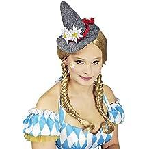 Mini Seppl Hut mit Edelweiß für Damen - Schöner bayerischer Hut mit roter Kordel und Edelweiß