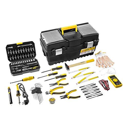 19-tlg. Werkzeugkoffer-Set für Elektriker Werkzeugkasten Werkzeugkiste Werkzeugset