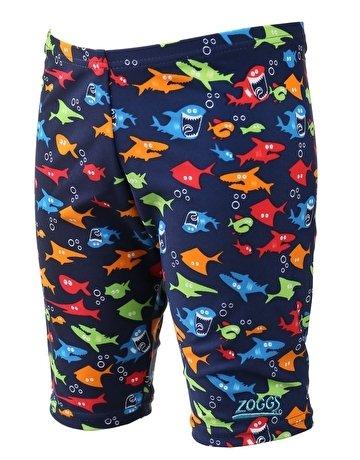 Zoggs Jungen 's Shark Fever Mini Jammer, Jungen, Shark Fever Mini, blau (Fisch Kostüm Pool)