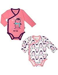 dae4435816526 Petit Béguin - Lot de 2 bodies manches longues bébé fille ...