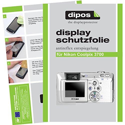 dipos Nikon Coolpix 3700 Schutzfolie (6 Stück) - Antireflex Premium Folie matt (3700 Coolpix Nikon)