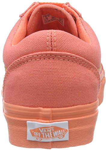 Vans Old Skool, Unisex Sneakers Orange (mono/fusion Coral)