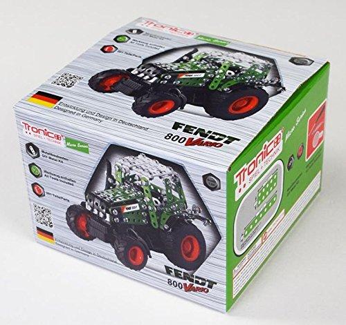 Preisvergleich Produktbild Tronico Metallbaukasten, Traktor, Fendt 800 Vario, Kunststoffchassis, 1:64, Freilauf, 4-farbige Aufbauanleitung, inklusive Werkzeug, Micro Series, ab 12 Jahren, rcee