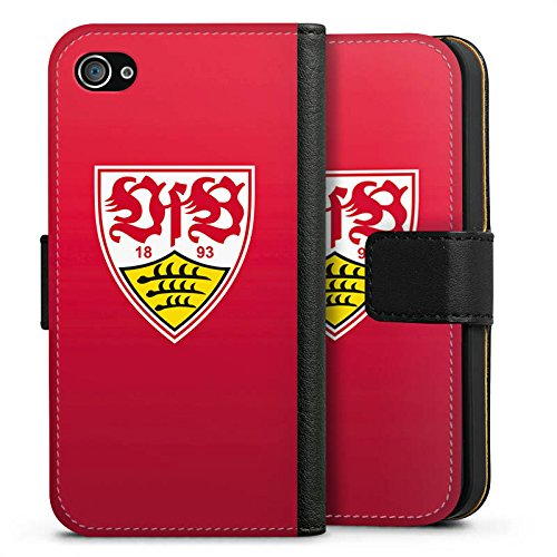 Apple iPhone 7 Hülle Case Handyhülle VfB Stuttgart Fanartikel 1893 Fussball Sideflip Tasche schwarz
