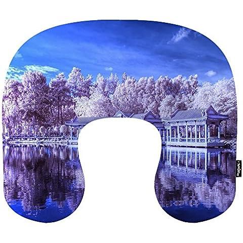 i FaMuRay Cuscino da Viaggio per Cervicale a Memoria di Forma di U Cuscino Chinese Garden, Singapore Scenery