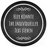 24 PERSONALISIERTE runde Etiketten mit Motiv: Tafel-Look schwarz edel - Ihre Aufkleber online selbst...