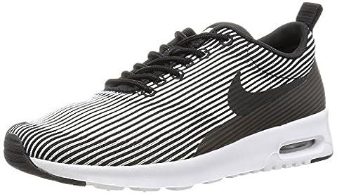 Nike W Air Max Thea Kjcrd, Chaussures de Sport Femme, Noir (Noir / Blanc-Metallic Silver), 39 EU
