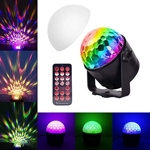 Aiwer Party Lichter mit Fernbedienung Dj Lighting RBG Disco Ball Licht Strobe Lampe 7 Modi Stage Par Light für Home Dance Parties Bar (An Decke Montiert Ball Der Disco)