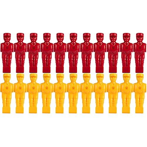 Tuniro 22x Profi Tischfußball Figuren, AUSBALANCIERT, SOCCERFUSS, Varianten (VOLLSTANGEN BZW. HOHLSTANGEN/TELESKOPSTANGEN) für 5/8 Zoll BZW. 15,9 mm Stangen, inkl. Schraubensatz, Kicker