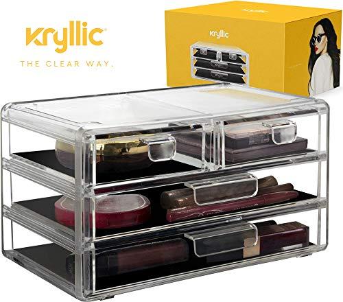 3da4c7520 AcryliCase Acrílico Maquillaje & Organizador de Joyas 4 Draw cosméticos Caja  de Almacenamiento ...