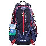 EGOGO 30L Wasserdicht Wanderrucksack Camping Rucksack mit Regenschutz Laufen Radfahren im Freien S2310 (Schwarz)