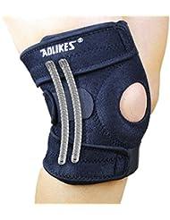 Dehang - Soporte Rodillera Protección Protector Deportiva Ajustable de Rodilla para Gimnasio Fútbol Baloncesto Fitness - Negro
