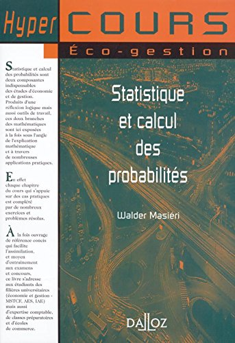 Statistiques et calcul des probabilités