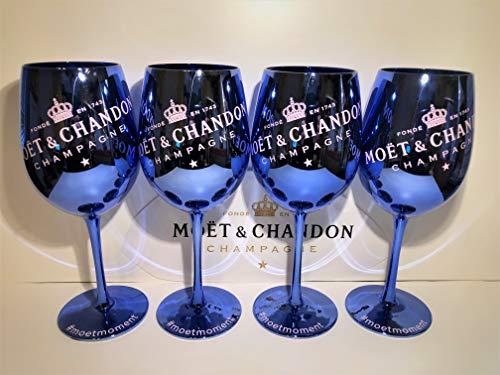 Moet Chandon Gläser BLAU Ice Imperial Champagner Limited Ibiza Edition (BLAU) 4 Stück (4pcs.)