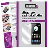 dipos I 2X Schutzfolie klar passend für ZTE Blade V7 Folie Displayschutzfolie