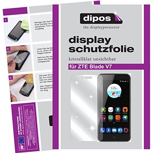 dipos I 2X Schutzfolie klar passend für ZTE Blade V7 Folie Bildschirmschutzfolie