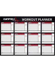 gympad 12Premium calidad A2Gráfico de pared–Póster de Semana Planificador de fitness