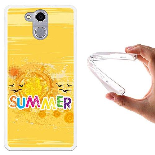 WoowCase Elephone P7000 Hülle, Handyhülle Silikon für [ Elephone P7000 ] Summer Handytasche Handy Cover Case Schutzhülle Flexible TPU - Transparent