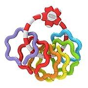 ANELLO AFFERRAFACILE Questo colorato sonaglio Ú leggero e facile da afferrare. Contribuirà a sviluppare il coordinamento delle prime mosse del bambino attraverso le sue 6 anelli staccabili.Non Ú presente nessuna vernice sulle parti accessi...