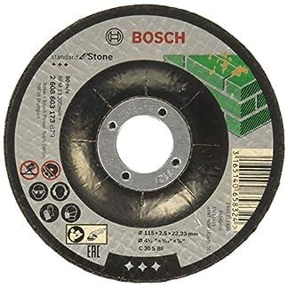 Bosch 2 608 603 173 – Disco de corte acodado Standard for Stone – C 30 S BF, 115 mm, 22,23 mm, 2,5 mm (pack de 1)