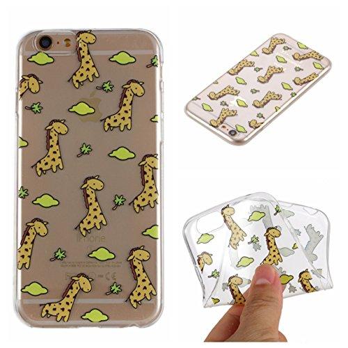 iPhone 6S Hülle, Voguecase Silikon Schutzhülle / Case / Cover / Hülle / TPU + PC Gel Skin für Apple iPhone 6 Plus /6S Plus 5.5(Kleine Gänseblümchen 03) + Gratis Universal Eingabestift Giraffe 01