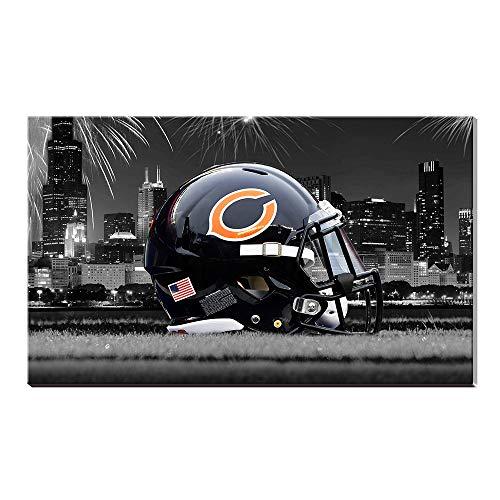 NFL Chicago Bears Football Poster Ölgemälde Giclee Leinwand Baumwolle Drucke Bild Wand Kunst Acryl Kunstwerk Home Decor Geschenk 28x40inch (Nfl Football Bilder)