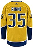 Pekka Rinne Nashville Predators Adidas NHL Men's Authentic Yellow Hockey Jersey Maillot